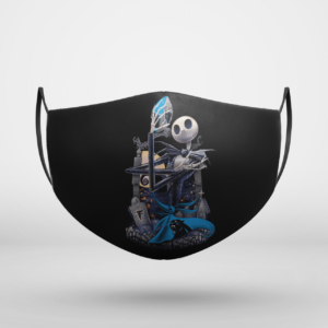 Carolina Panthers Jack Skellington Halloween Face Mask
