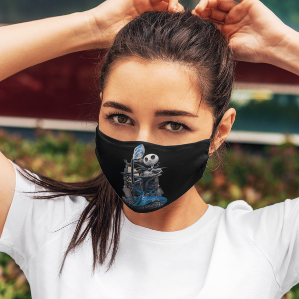 Detroit Lions Jack Skellington Halloween Face Mask