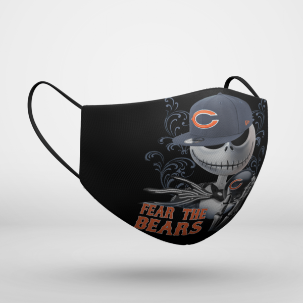 Fear The Chicago Bears Jack Skellington NFL Halloween Face Mask