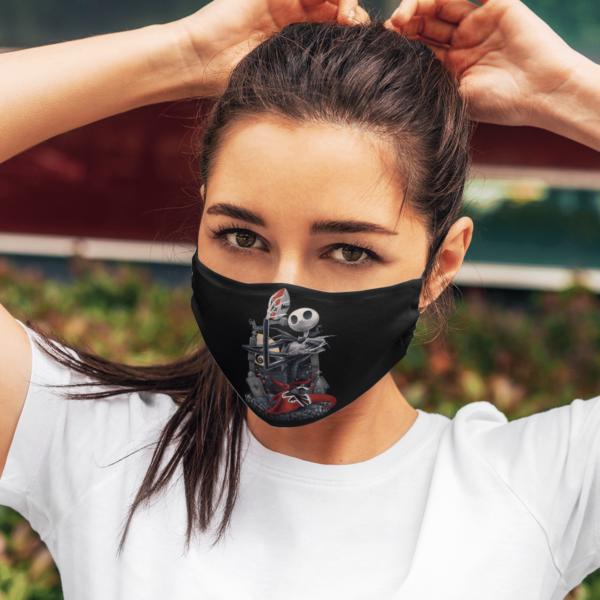 Atlanta Falcons-Jack Skellington Halloween Face Mask