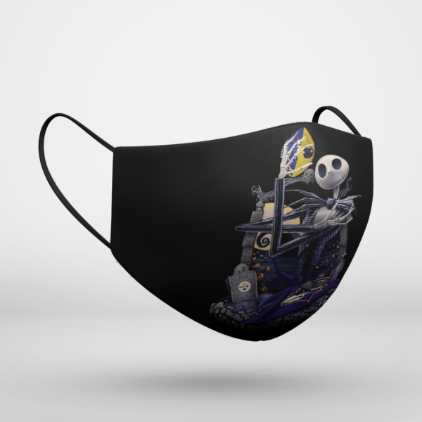 Baltimore Ravens Jack Skellington Halloween Face Mask