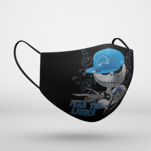 Fear The Detroit Lions Jack Skellington NFL Halloween Face Mask