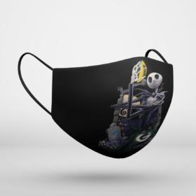 Green Bay Packers Jack Skellington Halloween Face Mask