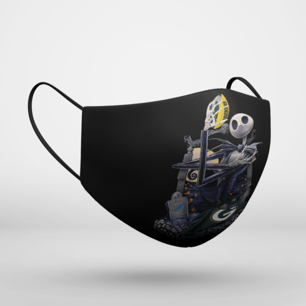 Green Bay Packers Jack Skellington Halloween Face Mask
