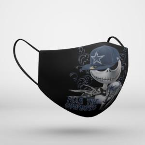 Fear The Dallas Cowboys Jack Skellington NFL Halloween Face Mask