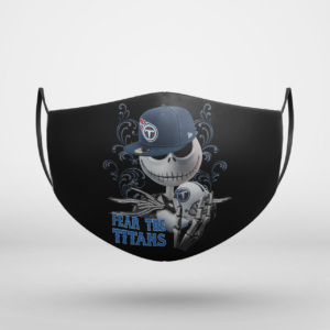 Fear The Tennessee Titans Jack Skellington NFL Halloween Face Mask