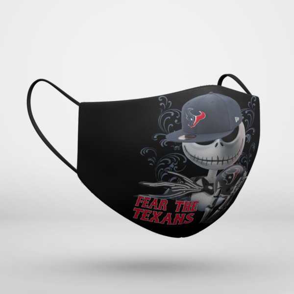 Fear The Houston Texans Jack Skellington NFL Halloween Face Mask