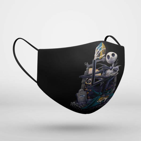 Jacksonville Jaguars Jack Skellington Halloween Face Mask