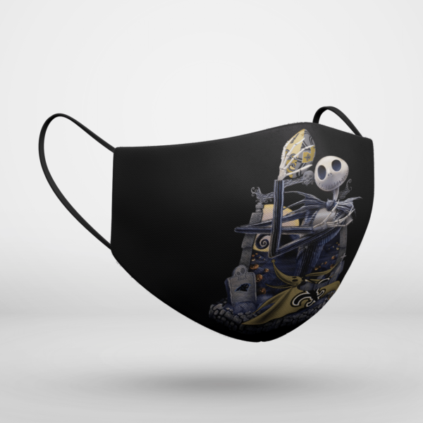 New Orleans Saints Jack Skellington Halloween Face Mask
