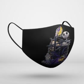 Minnesota Vikings Jack Skellington Halloween Face Mask