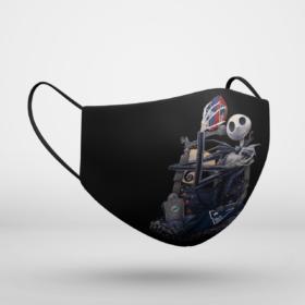New England Patriots Jack Skellington Halloween Face Mask