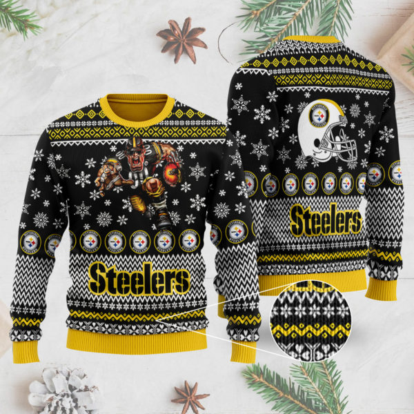 Pittsburgh Steelers 3D Ugly Christmas Sweater