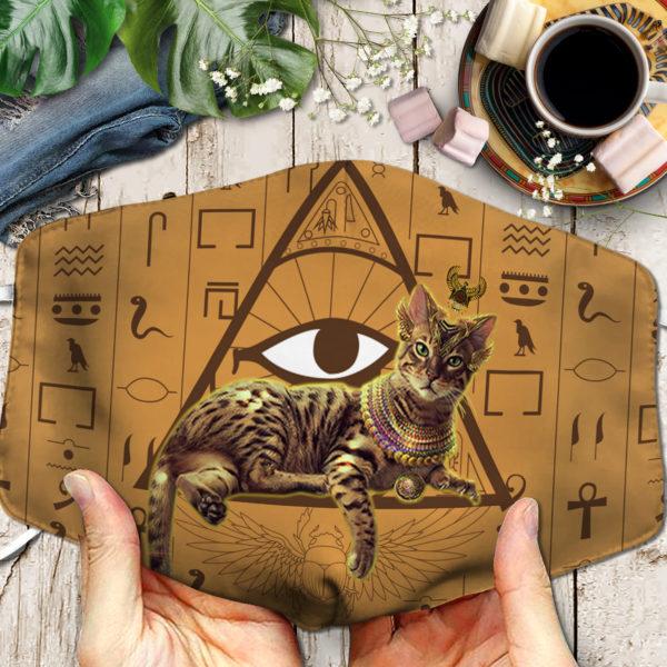 Cat Egypt Sympol Cat Ancient Face Mask