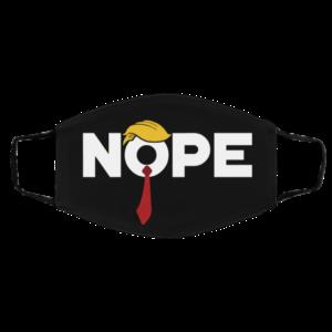Trump Nope Red Tie Flush The Turd Nov 3rd Anti Trump Face Mask