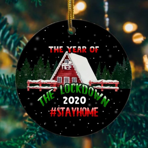 2020 Year of the Lockdown Decorative Decorative Christmas Ornament - Funny Holiday Gift