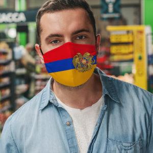 Armenia Armenian Flag Armenian Coat of Arms Face Mask