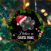 I Believe in Santa Paws Funny Christmas Cat Flat Holiday Circle Ornament