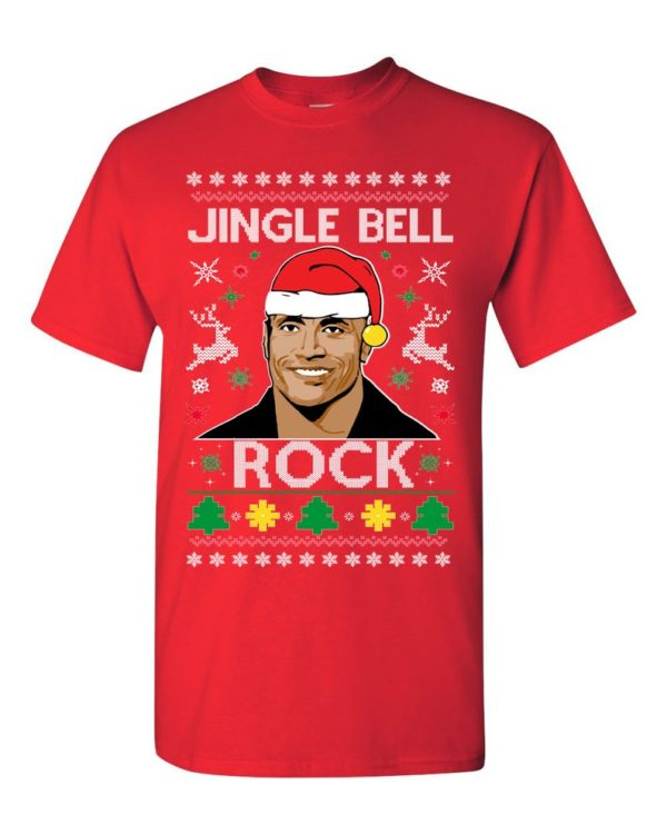 The Rock Jingle Bell Rock Ugly Christmas Sweater