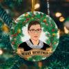 Merry Resistmas Ruth Bader Ginsburg Christmas Ornament - Notorious RBG Decorative Christmas Ornament - Funny Holiday Gift