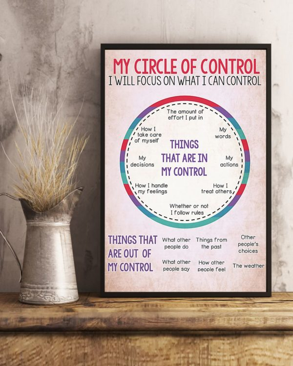 My Circle Of Control I Will Focus On What I Can Control Poster, Canvas