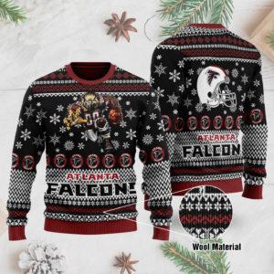 Atlanta Falcons 3D Printed Ugly Christmas Sweater