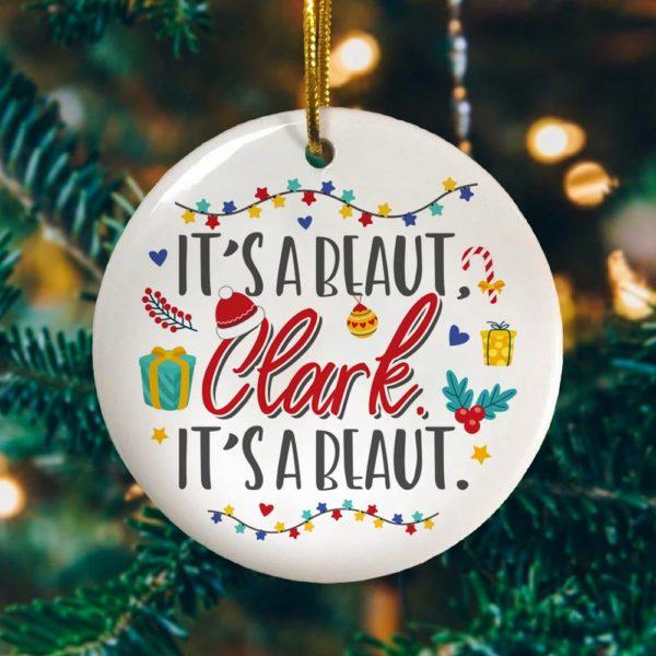 Its A Beaut Clark Circle Ornament Keepsake - Christmas Ornament Decoration Ornament
