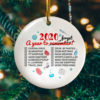 Christmas 2020 A Year To Remember Funny Quarantine Decorative Christmas Ornament - Funny Holiday Gift