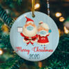 Mr Mrs Claus 2020 Circle Ornament Keepsake - Funny 2020 Christmas Ornament
