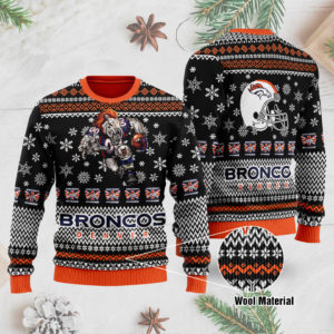 Denver Broncos 3D Printed Ugly Christmas Sweater