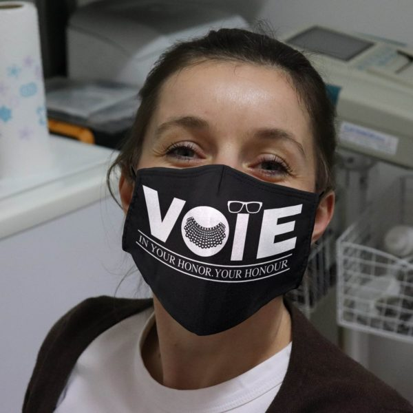 RBG Vote In Your Honor Your Honour Face Mask