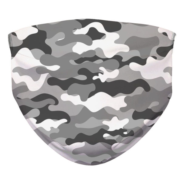 Camouflage Pattern Camo Grey Military Face Mask
