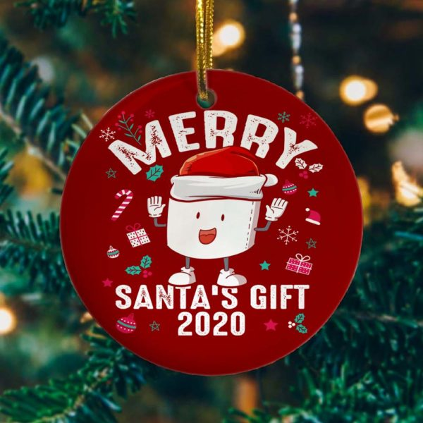 Merry Christmas Santa's Gifts Decorative Christmas Ornament - Funny Holiday Gift