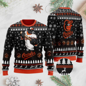 Baltimore Orioles Ugly Christmas Sweater 3D