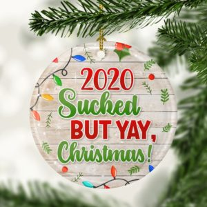 2020 Sucked But Yay Christmas Decorative Ornament