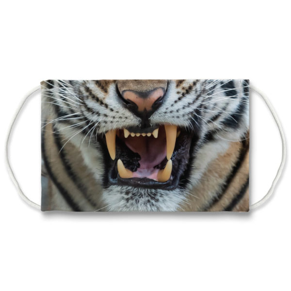 Angry Tiger Face Big Cat Wild Animal Face Mask