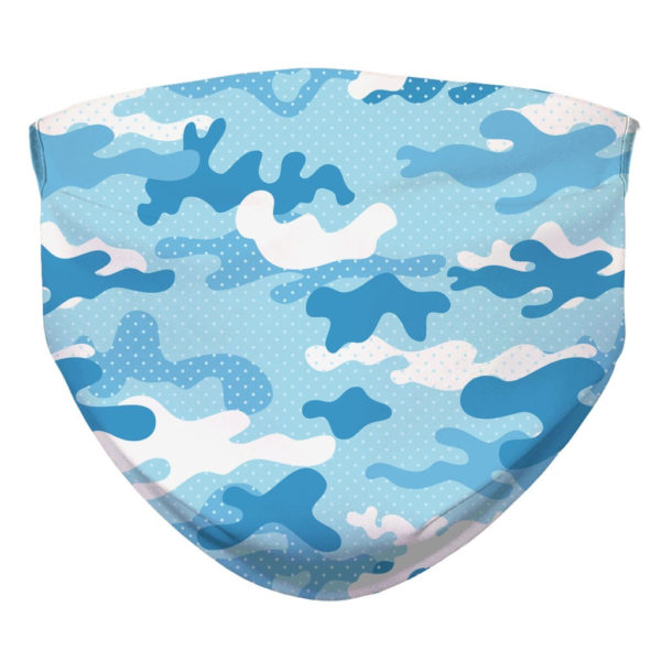 Camouflage Pattern Camo Baby Blue Face Mask