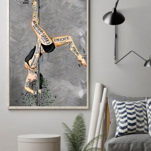 Pole Dance I Am Beautiful Enough Smart Enough Vintage Poster, Canvas