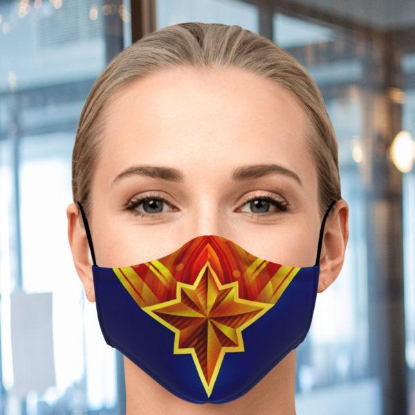 Captain Marvel Face Mask