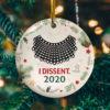 I Dissent 2020 Christmas Ornament Keepsake Decorative Ornament - Funny Holiday Gift