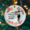 Almost Married Damn You Covid Pandemic Christmas Quarantine Wedding Decorative Christmas Ornament - Funny Holiday Gift