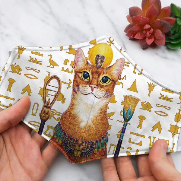 Funny Cat Ancient Egypt Face Mask