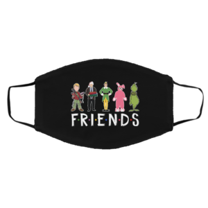 Christmas Movie Characters Friends Face Mask