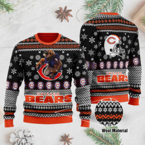 Chicago Bears 3D Printed Ugly Christmas Sweater