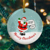 Santa Claus Wears Mask Toilet Paper Decorative Christmas Ornament - Funny Christmas Holiday Gift