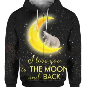 Polar Bear I Love You To The Moon And Back 3D Shirt Sweater Hoodie