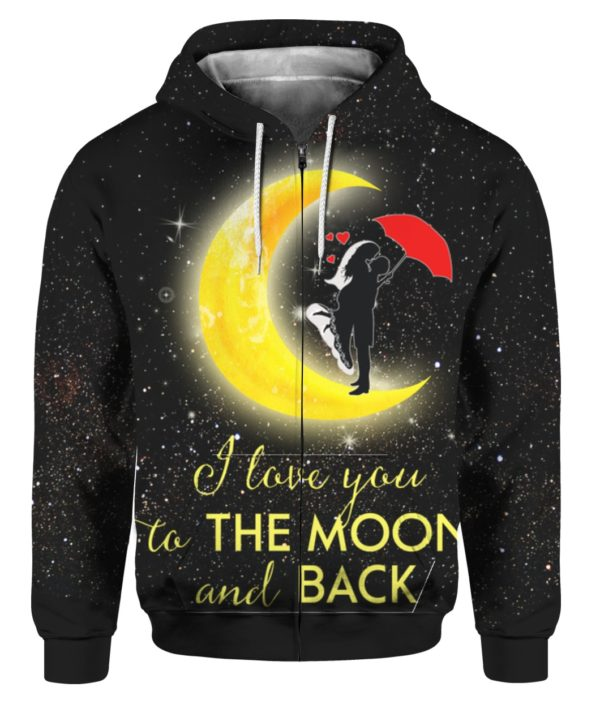 Couple I Love You To The Moon And Back 3D Sweater Hoodie
