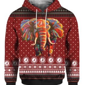 Alabama Crimson Tide Football Christmas 3D Ugly Sweater Hoodie