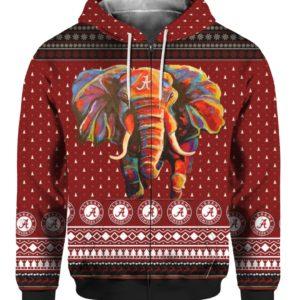 Alabama Crimson Tide Football Christmas 3D Ugly Sweater Hoodie