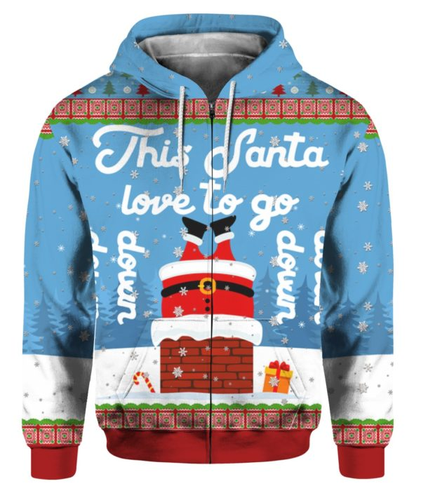Santa Goes Down 3D Ugly Christmas Sweater Hoodie