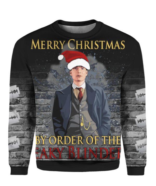 Merry Christmas By Order Of The Peaky Blinders 3D Ugly Christmas Sweater Hoodie